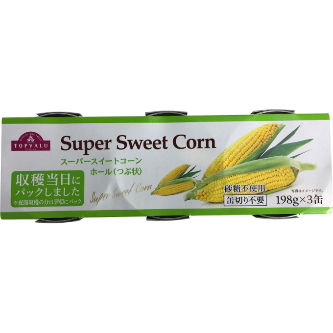 TOPVALU Super Sweet Corn ホール(つぶ状) 594g