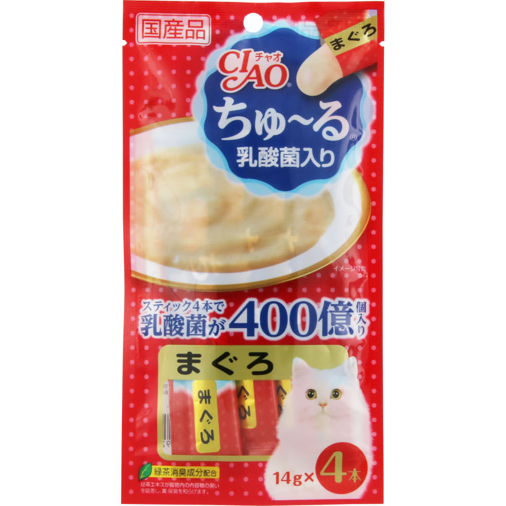 〈CIAO ちゅ〜る 乳酸菌入り〉 まぐろ 14g×4本